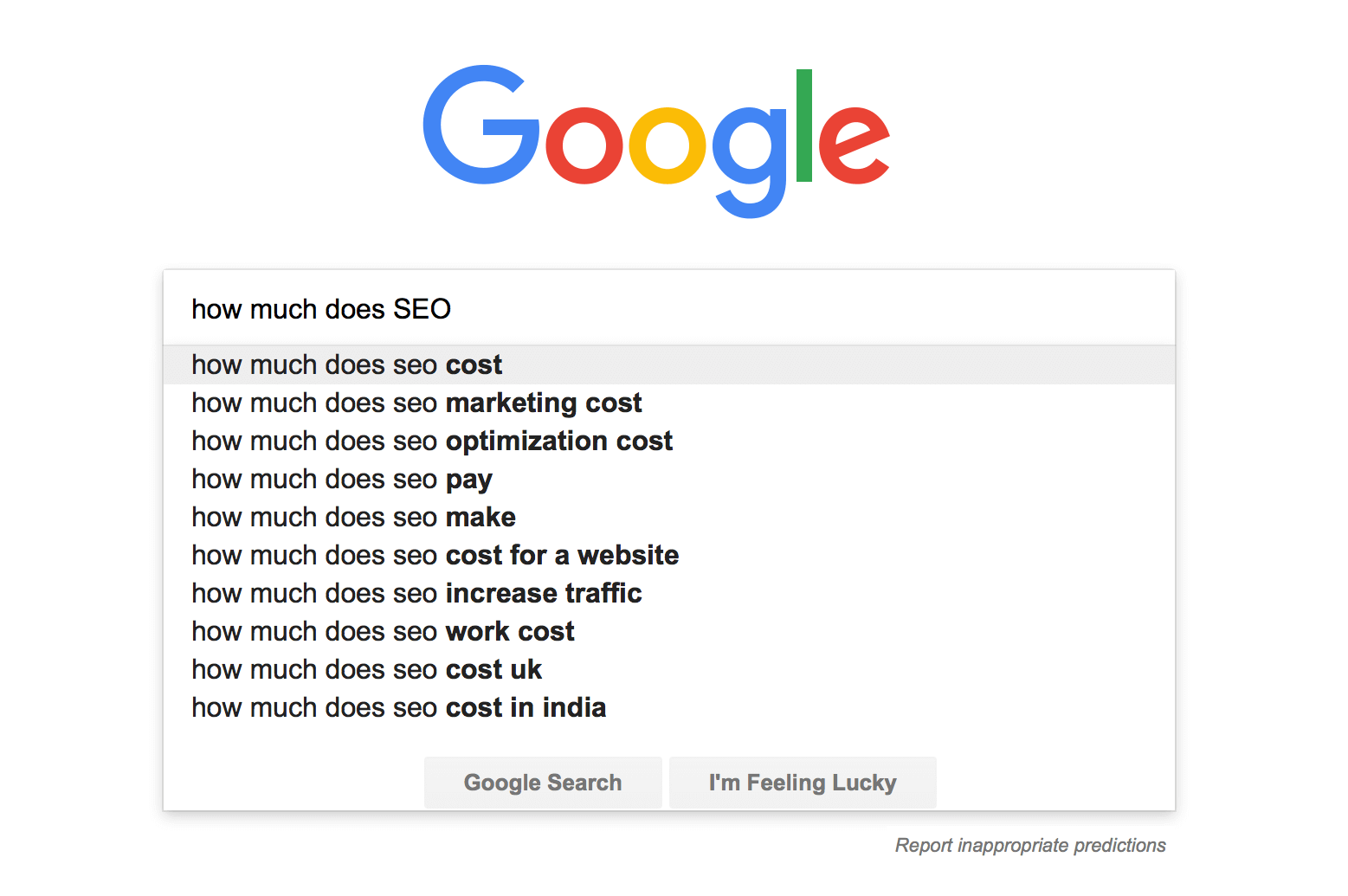 Image of How much does SEO cost